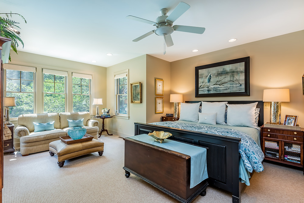Interior Design for Timeless Bedroom Decor by Margie Stapf Interiors of Boiling Springs PA