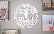 Red Mill Monogram Family Sign Tree Cutou