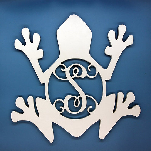 Frog with Initial Monogram
