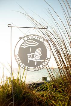 Red Mill Monograms Beach Umbrella Decor