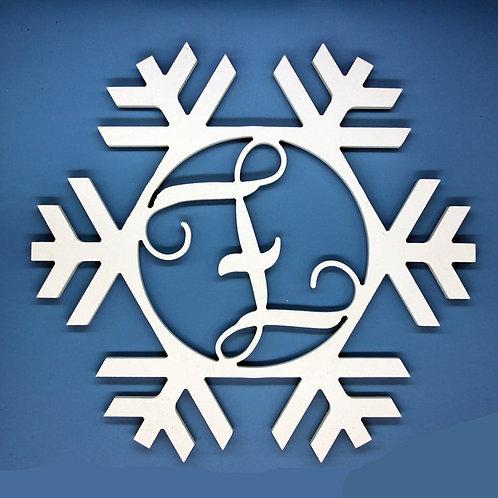 Snowflake Letter Initial Monogram
