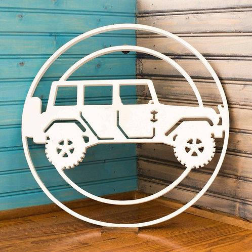 Jeep JKU in Circle