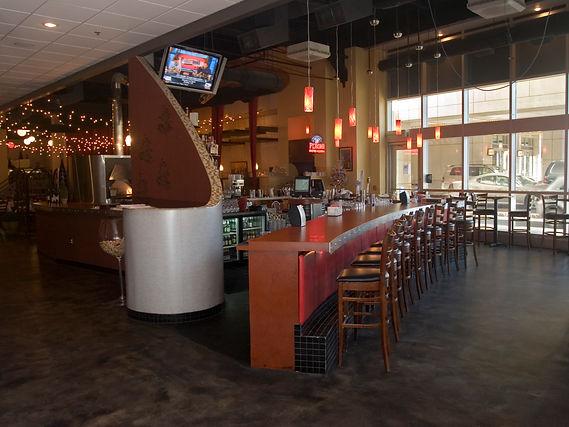 restaurant custom concrete flooring coun