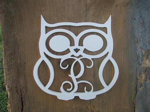 Owl Initial Monogram