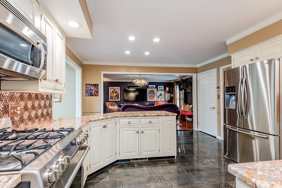 kitchen living Margie Stapf Interiors Ce