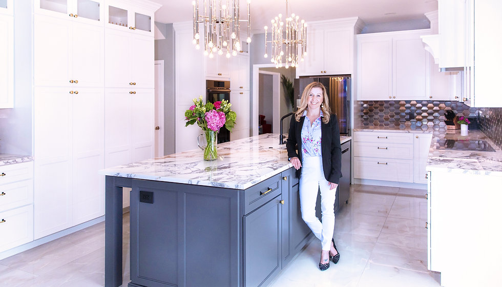 Emily Fisher in Luxury Interior Design Kitchen Remodel in Hershey PA Headshot Lifestyle Photography