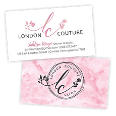 London Couture Salon Business Cards