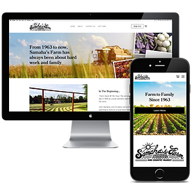 Samahas Farm NJ Website Design Bitsy Plu