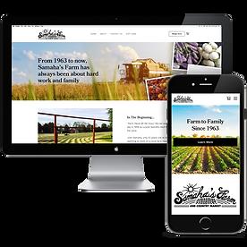 Samahas Farm NJ Website Design Bitsy Plu