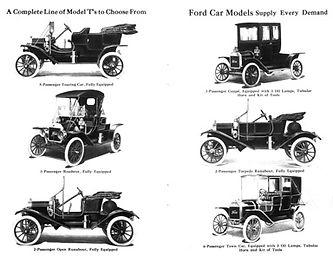 Linha de Modelos da Ford