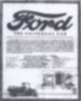 Panfleto da Ford nos anos 20