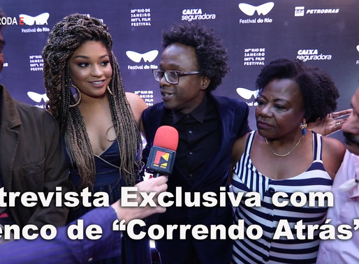 "Entrevista exclusiva com o elenco do          ""Correndo Atrás"""