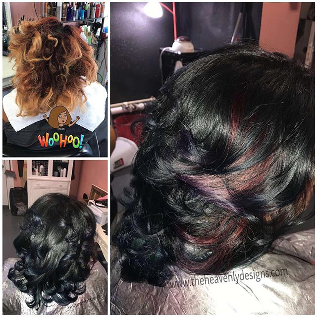 I love doing her hair 🤗 We always have the best time talking and laughing 😂 cutcolorstyle 🤗 #theb
