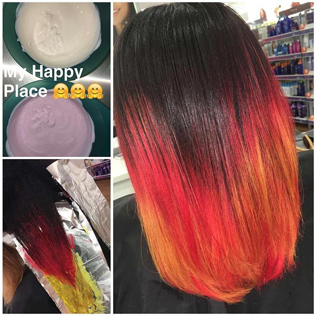 🤗🤗fun fun colors 😁 #staytuned 💞💞 🤗 #schooltime #backtoschool #pravana #myart #modernsalon #myp