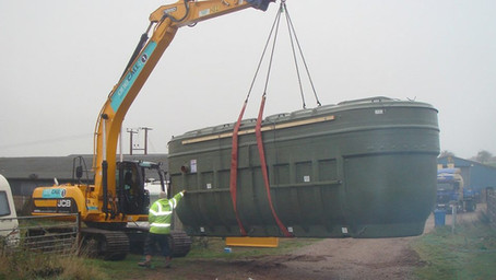Installation of a sewage treatment plant