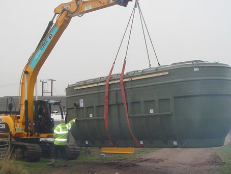 Installation of a sewage treatment plant
