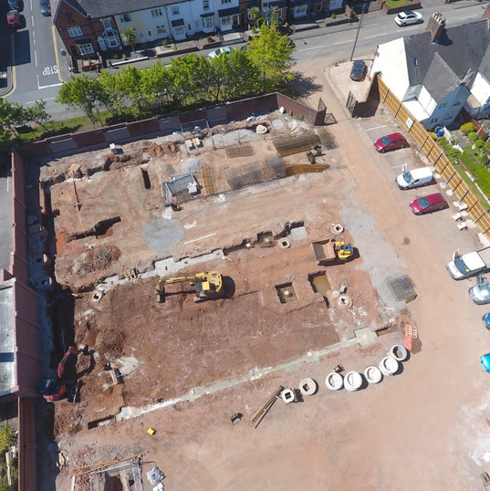 Arial shot of site