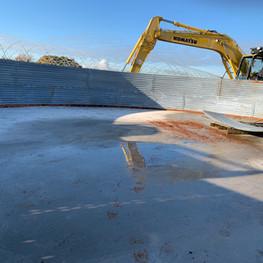 Galvanised steel tank