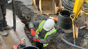 Replacement of a sewage system that had gone wrong