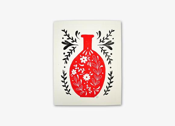 Flacon de fleurs | Rouge