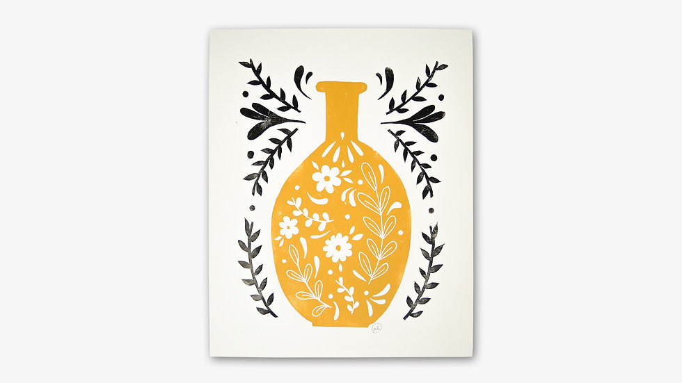 Flacon de fleurs | Jaune ocre