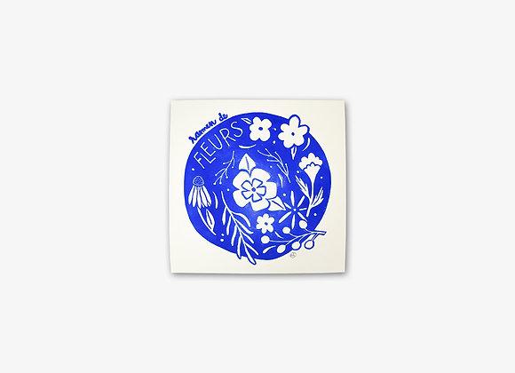 Ramen de fleurs   Bleu