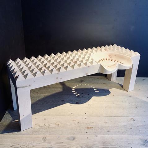 Corona Bench with Traktor Sitz - designe