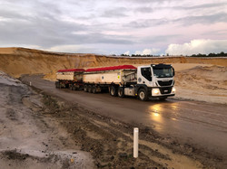 ACH Road Train Cartage Material Delivery