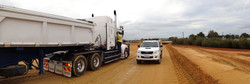Sand Delivery Truck Roadside Inspection