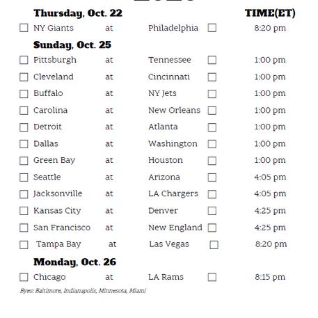 Week 7 NFL Predictions