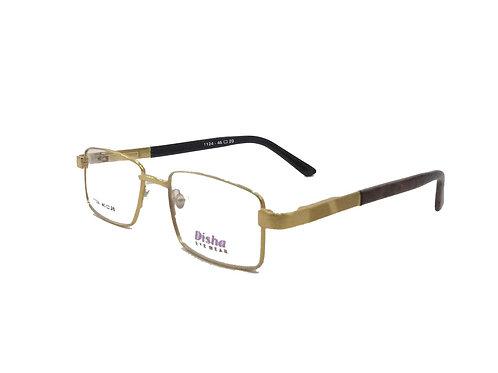 Optihuts LIghtweight Disha Eyeware Golden Frame For Unisex (Medium)