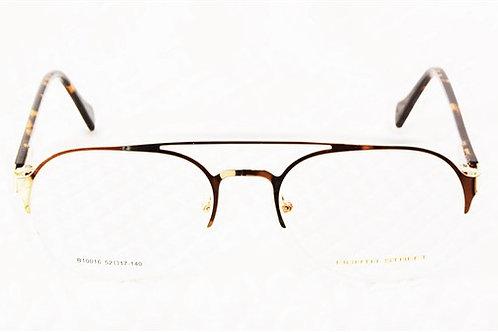 Optihuts Metal Half Frame Unisex Spectacles Eyewear Frame (Medium, Golden)