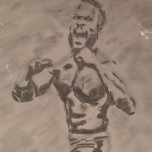 Justin Sane signed drawing