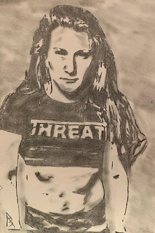 Jody Threat signed drawing