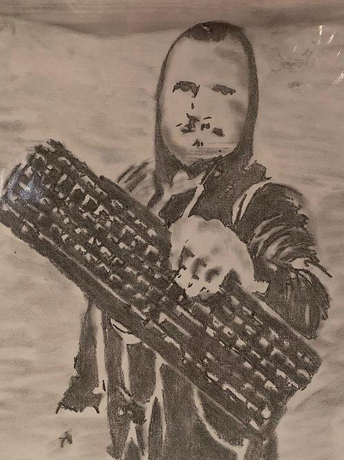 Hacker signed drawing