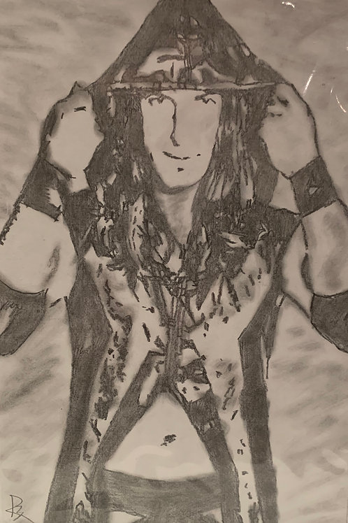 Mike Forte signed drawing