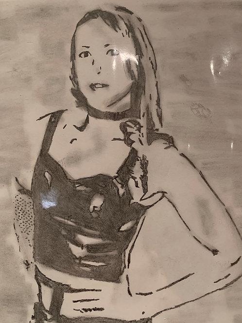 April Jones signed drawing
