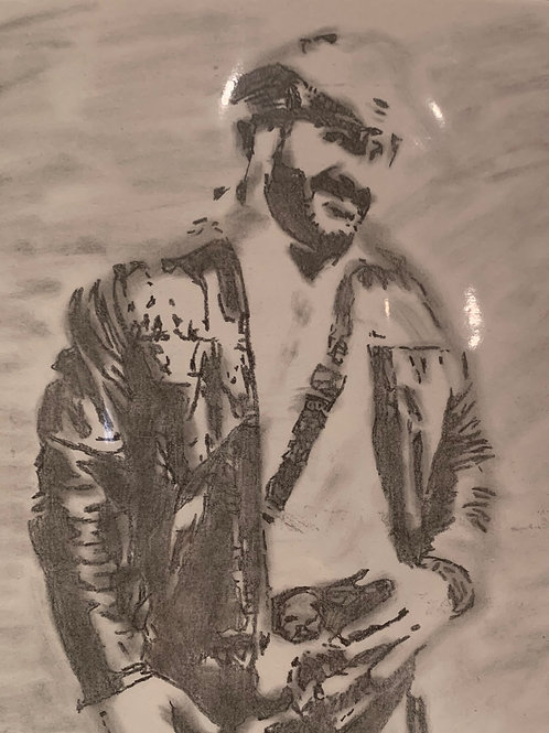 Stone Rockwell signed drawing