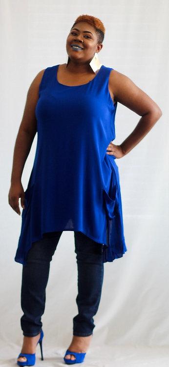 Navy Blue Top/Dress