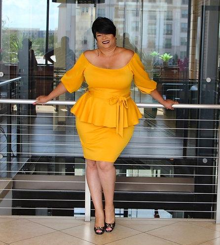 Dee's Mustard Classy Dress