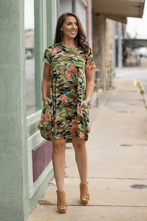 Unique custom prints tunic dress with a relaxed style with side pockets