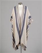 Cream/Grey Stripe Kimono