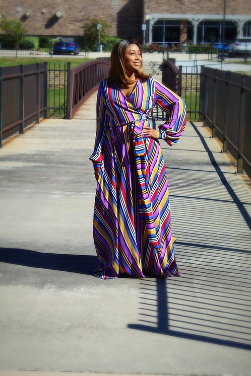 Striped colorful dress