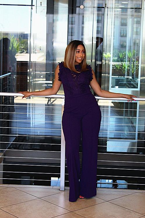 Lace Purple Jumpsuit
