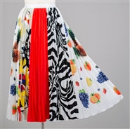 Multi-Colored Pleated Skirt