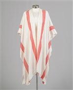 Ivory/red Stripe Kimono