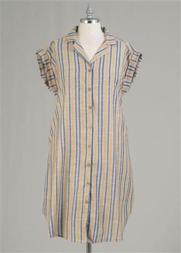 Sleeveless strip dress