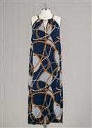 Sleeveless Print PlusSize Maxi Dress