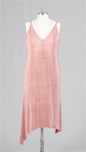 Pleated PlusSize Midi Dress