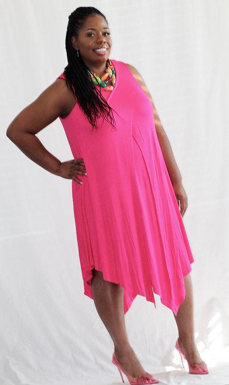 Sleeveless Layered Knit Dress